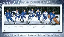 TORONTO MAPLE LEAFS NHL ORIGINAL SIX LIMITED EDITION AUTOGRAPHED LITHO W/COA