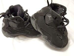 Nike Air Jordan True Flight Toddlers Shoes Black Sneakers Boys Size 4C
