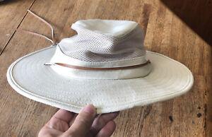 Dorfman Pacific Co Hat Khaki Mens Tan Vented Fish Safari 100% Cotton Size OSFA