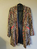 sourpuss coat leopard print rockabilly size small