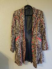 sourpuss coat leopard print rockabilly size small