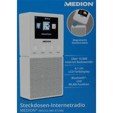 Internetradio Steckdosen Internet Radio Bluetooth Lautsprecher WLAN Medion Weiß