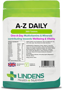 Multivitamin & Minerals A-Z Daily tablets (360 pack) One-A-Day [Lindens 3770]