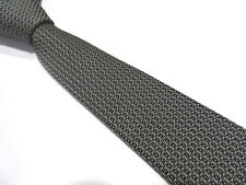 TIE RACK PADDED BLACK WHITE SKINNY SLIM 2 INCH POLYESTER NECK TIE