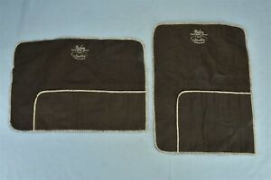 Vintage LOT of 2 ANTI TARNISH BAG POUCH SILVER NAKEN FLATWARE 6 SECTION #00385