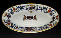 """CERAMICA CUORE Deruta-Style Lg Oval Serving Platter 15"""" x 10.25"""" ~ ITALY ~ NWT"""