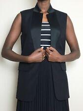 alexander wang Duster Wool Ladies Black Work Size 6-8 Designer Half Coat