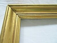 ANTIQUE FITS 10 X 17 Lemon GOLD GILT PICTURE FRAME ORNATE WOOD FINE ART COUNTRY