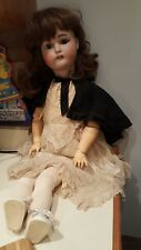 Antique 19th c K star R Simon Halbig Bisque Doll w Composition Body 29""