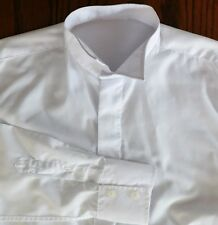 "Wing collar shirt size 15"" British Home Stores vintage 1980s mens formal dress"