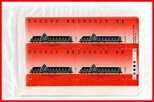Canada Stamp Full Set of 4 Mint Plate Blocks #1182 - Definitive - McAdam Railway