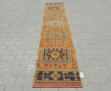 turkish runner,2x11 ft,Turkish Rug,Anatolian Rug,Bohemian,Vintage rug,Oushak Rug