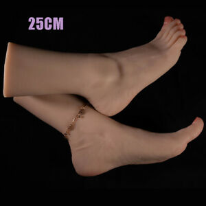 KnowU Silicone Fake Feet Teaching Model Foot Model Adult High Simulation 25CM