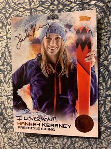 HANNAH KEARNEY AUTOGRAPHED SKIING CARD