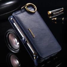 FLOVEME Genuine Leather Flip Wallet Phone Case Cover for iPhone X 10 8 7 6S 5S 5