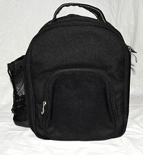 Picnic at Asot Insulated Black Canvas Backpack w/ Carrying Handle Padded Straps