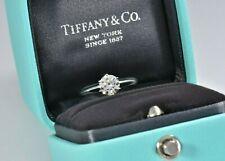 Tiffany & Co Setting Solitaire Diamond Platinum Engagement Ring .74ct VVS1 BOXED