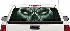 Matrix skull rear window graphics Decal Sticker 50/50 view 66''x22'' Truck SUV