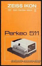 Bedienungsanleitung ZEISS IKON PERKEO 511 Projektor User Manual Anleitung (X2770