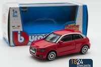 Audi A1 in Red, Bburago 18-30230, scale 1:43, toy car model gift boy