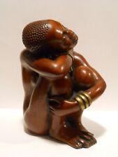 Vintage Art  Sculpture African Trible woman Art Achatit Handarbeit Germany