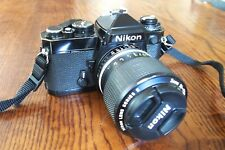 Nikon FE SLR 35mm film camera/36-72mm Nikon zoom lens - Good Condition