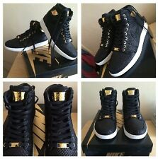 Jordan 1 Pinnacle 24k Nike Air Negro Bañado en Oro US9 UK8 EUR42.5 100% Auténtico