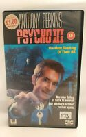 VHS Big Box Ex Rental Tape Psycho 3 III CIC  Horror 1986