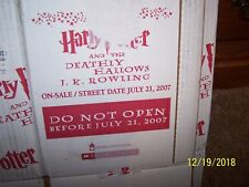 Rare Harry Potter and the Deathly Hallows Original Publisher Shipping Box 2007