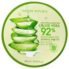 Soothing & Moisture Aloe Vera 92% Soothing Gel, 10.56 fl oz - Nature Republic