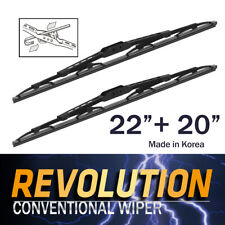 """REVOLUTION 22"""" + 20"""" Metal Frame Wiper Blades for Toyota 86 ZN6 COUPE 2012~2019"""