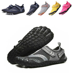 UK Mens Womens Water Shoes Aqua Shoes Kids Beach Swim Wetsuit Non Slip Yoga Surf