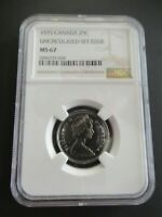 CANADIAN 1975 QUARTER NGC GRADED MS67
