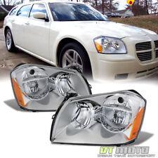 2005-2007 Dodge Magnum Headlights Headlamps Replacement 05 06 07 Set Left+Right