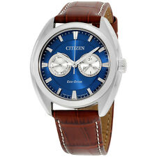 Citizen Paradex Blue Dial Leather Strap Men's Watch BU401005L