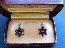 Antike Granat Ohrringe,Böhmen, antique bohemian garnet earrings