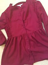 Red Herring Debenhams Beautiful Red Burgundy Lace Detail Top Size 6