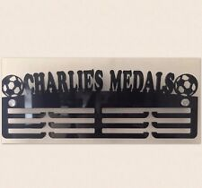 THICK 5mm Acrylic PersonalisedFootball 3Tier Medal Hanger / Medal Holder / Rack