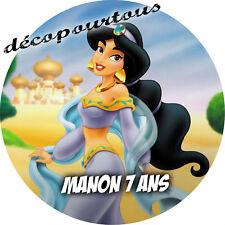 disque azyme princesse jasmine  personnalisé  20  cm pour gateaux , enfant