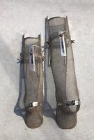 Antique LEG BRACE LOT 2 Size's Polio Doctor Display Medical Steampunk Soft Metal