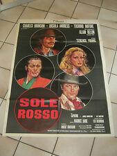 MANIFESTO, SOLE ROSSO  Young 1974 Charles Bronson Alain Delon Ursula Andres