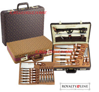 Valigetta Coltelli e Posate 25 pezzi acciaio inox Royalty Line RL-K25LB posate