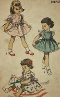 1950s Advance Vintage Sewing Pattern 5732 Child Dress Size 2