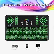 2.4Ghz Mini RGB Backlit Wireless Keyboard Touchpad For Android Smart TV Box PC