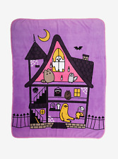 Pusheen Halloween House Plush Throw Blanket