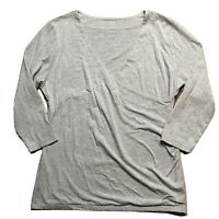 Soft Surroundings 3/4 Sleeve Shapely Surplice Top Women's XL Gray #29174 ($50)