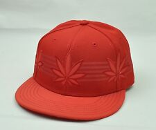 8e4653e4076 Cayler and Sons Marijuana 3 Weed Plants Mens Hat Cap Adjustable Snapback Red