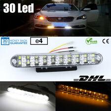 2x LED Tagfahrlicht Kit 12V 30SMD Für Auto Dimm-Modus TFL Drl Mit E4 Prüfzeichen