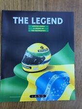 Ayrton Senna THE LEGEND - LANG colour catalogue / brochure 16 pages F1 Lotus etc