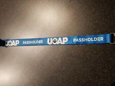 Universal Studios Orlando UOAP Blue Passholder Lanyard and Badge Holder